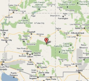 Arizona retreat center map